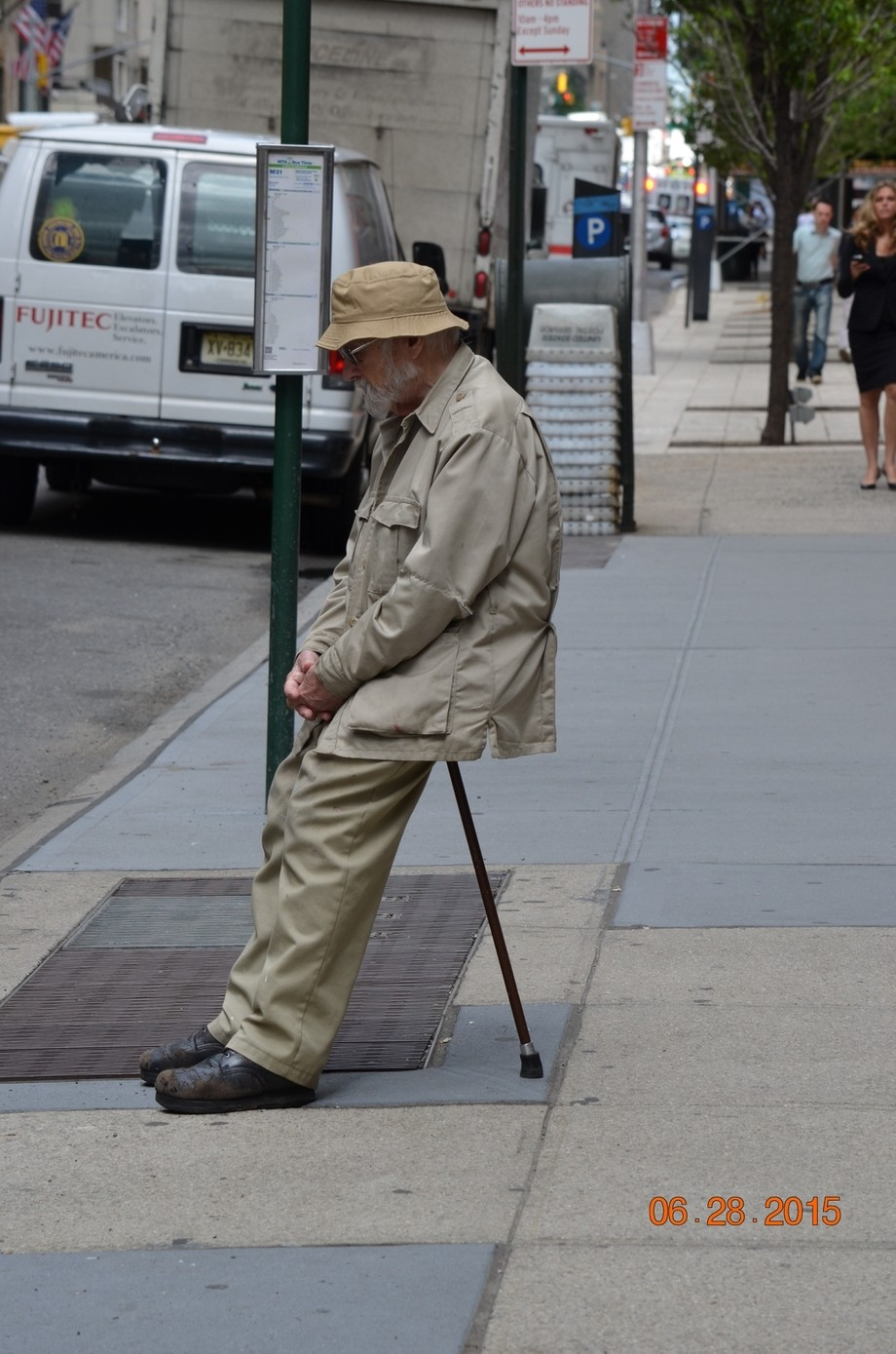 Saw this man alone in New York City, NY