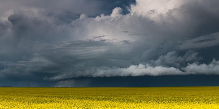Storm rolling in, in Saskatchewan.
