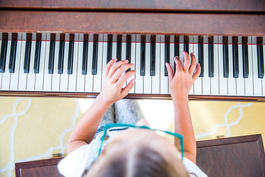 This is my daughter playing the piano