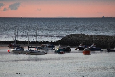 Evening in Rhos on Sea Harbour