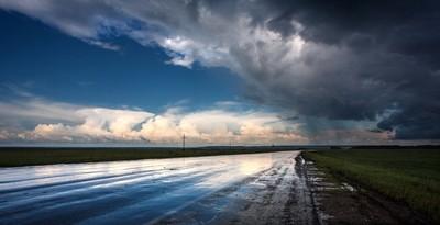 A road after rain