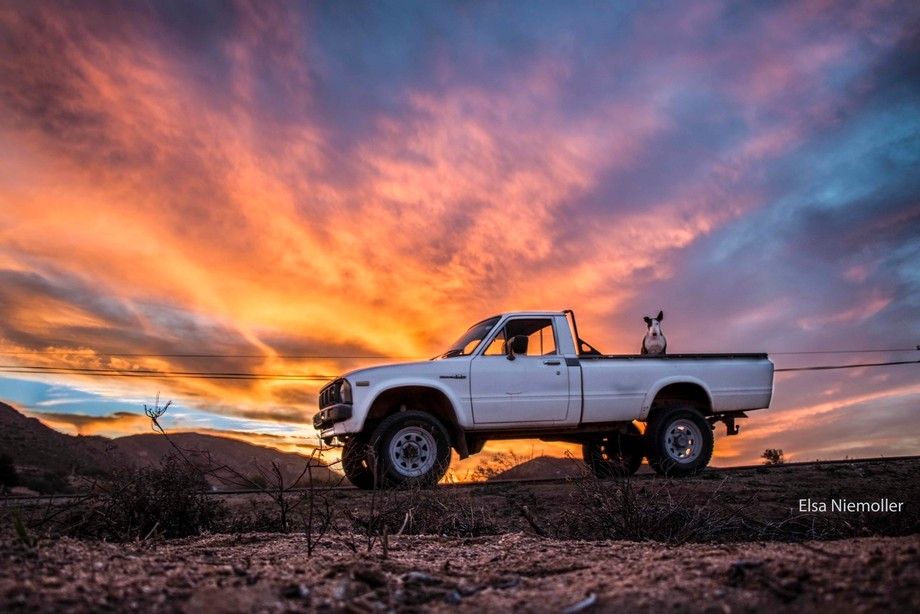 This photo was taken just outside Springbok, Northern Cape, South Africa of our 1980 Toyota Hilux...