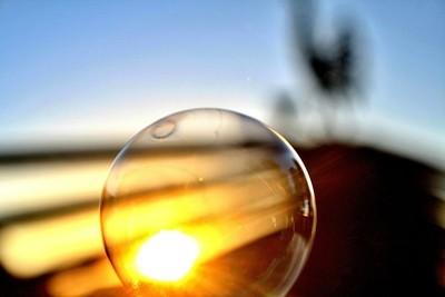 Sunset globe