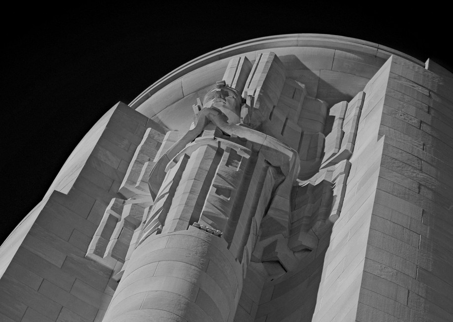 Tower at the National WWI Memorial in Kansas City, MO.