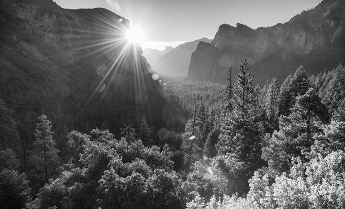Monotone Yosemite Sunrise by KGSPhoto - Landscapes In Black And White Photo Contest