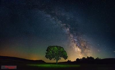 Milky way above Ozren