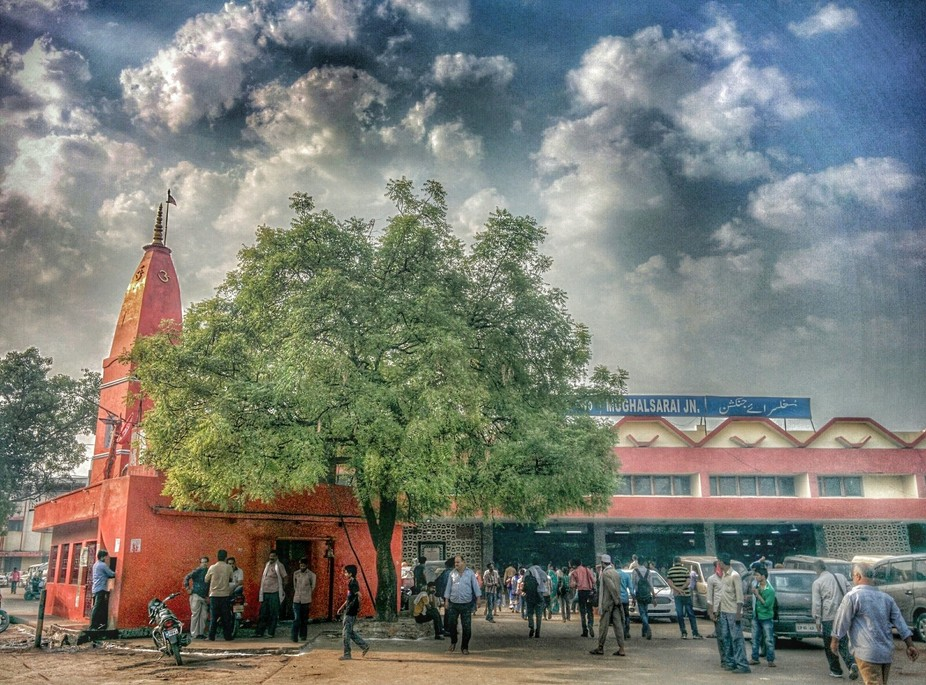 Mughalsarai Railway  Station........ Cloud attracted me for the composition. Though I was in hurr...