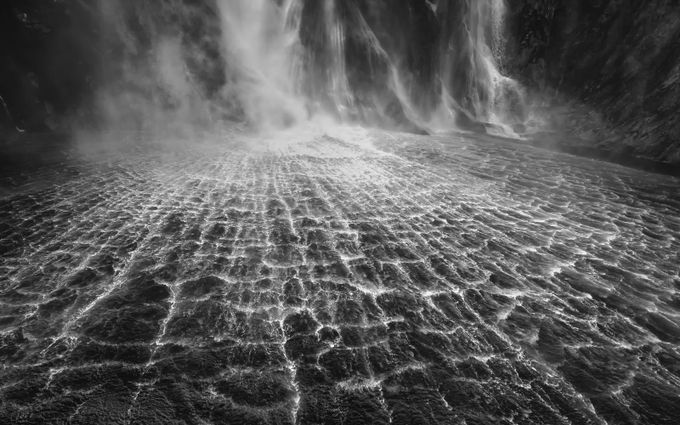 Stirling Falls of New Zealand by ovi_craciun - The Water In Black And White Photo Contest