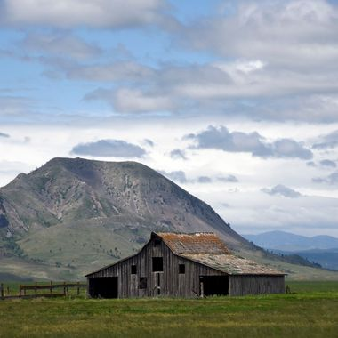 Bear Butte and Barn
