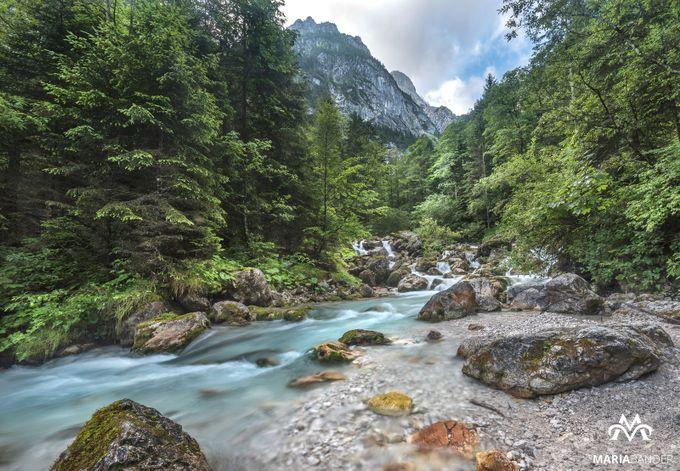 Glacier mountain stream by MariaBander