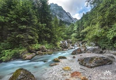 Glacier mountain stream