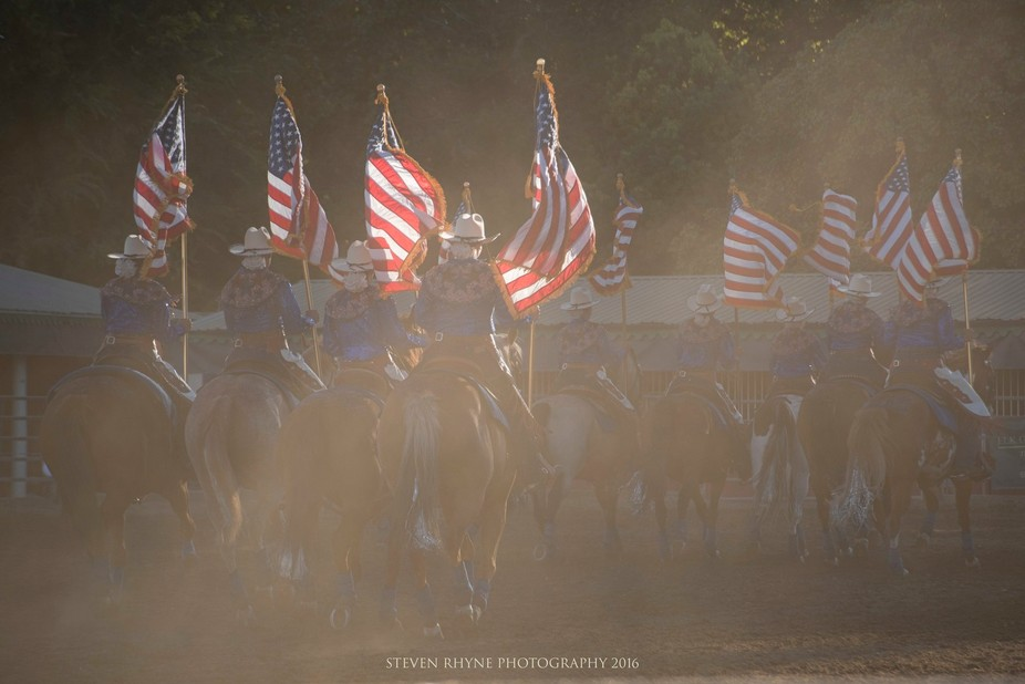 A riding team celebrating American Freedom