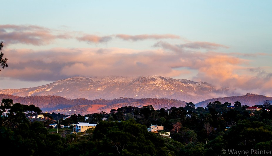 Mt Wellington, Hobart Dawn Light