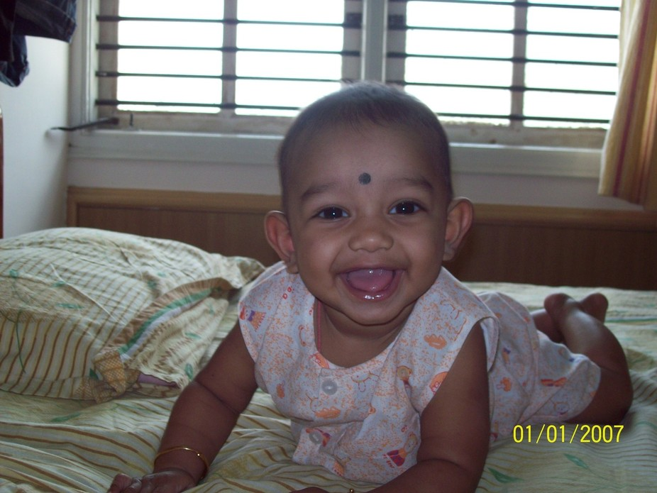 My son's cute smile