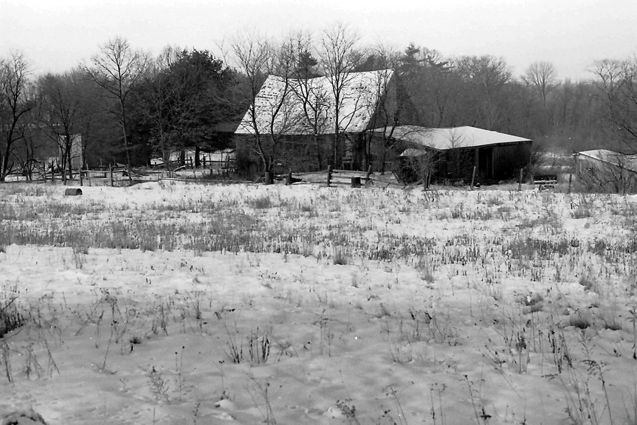 A friend's Farm, where I took hundreds of photos over the years.  The snow and the roof ...