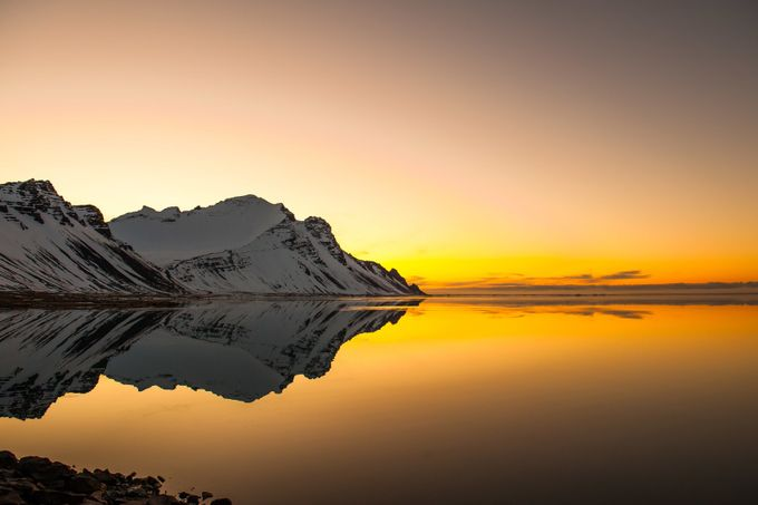 Hofn Sunrise with Mountain by IanLiptonPhotography - I Love The World Photo Contest