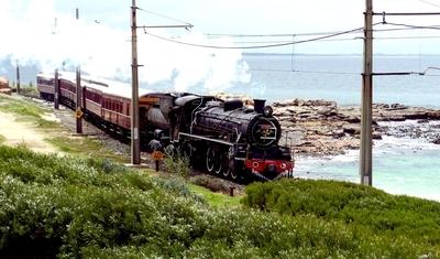 Steam Train on the beach