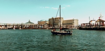 Entering V&A Waterfront Cape Town