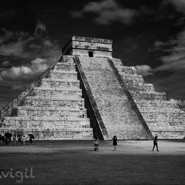 Mayan pyramid from the great Mayan civilization. Located in the Yacatan Peninsula.