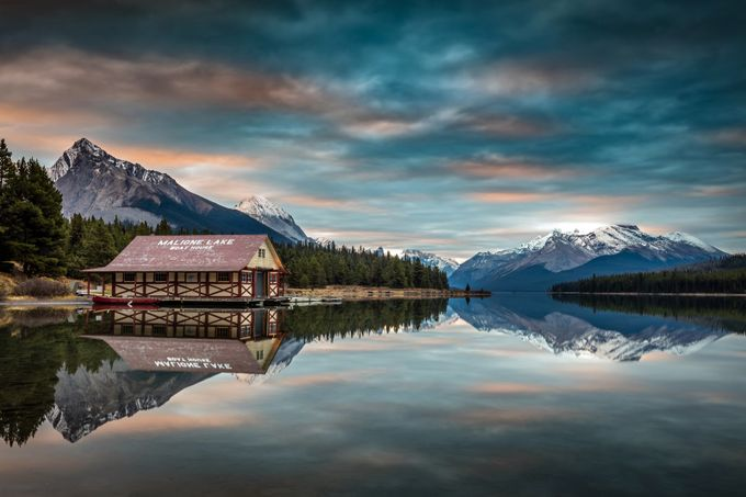 Dawn at Maligne Lake by PierreLeclercPhotography - The Zen Moment Photo Contest