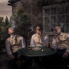 When the groom mentioned he was getting some Cuban cigars and wanted a picture of him and his Best men smoking them I knew i had to try something...