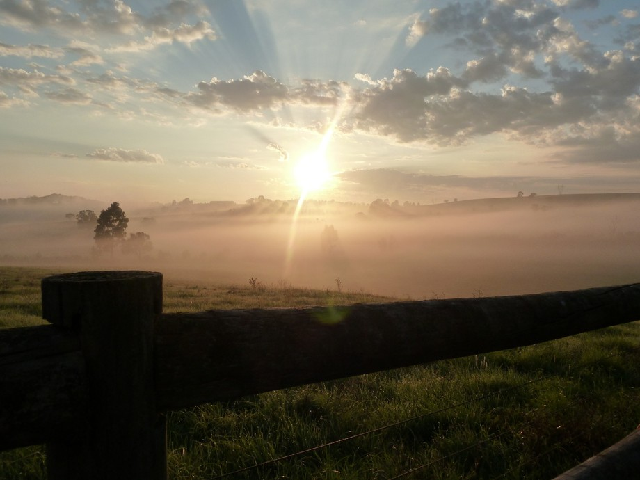 sunrise over the Yarra valley