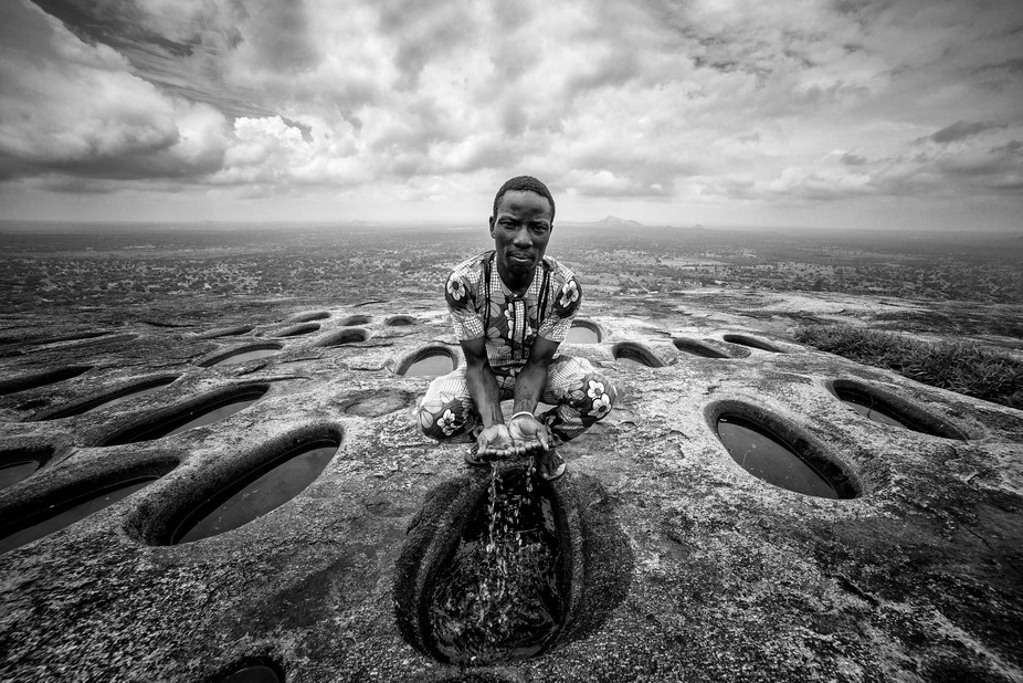 I took this picture on top of mountain of Dassa, a little town in Benin, West Africa.
