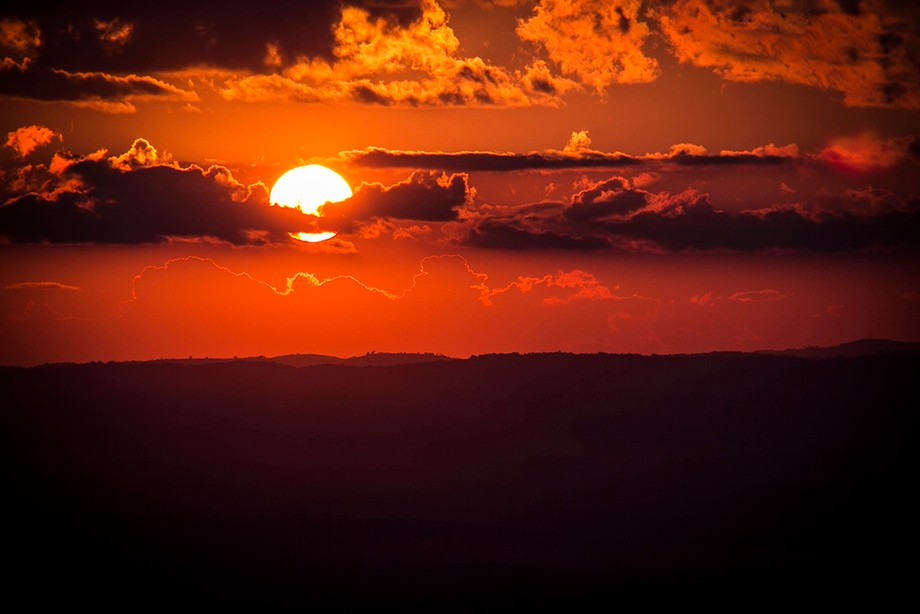 Sunset at São Tomé das Letras, Minas Gerais, Brazil