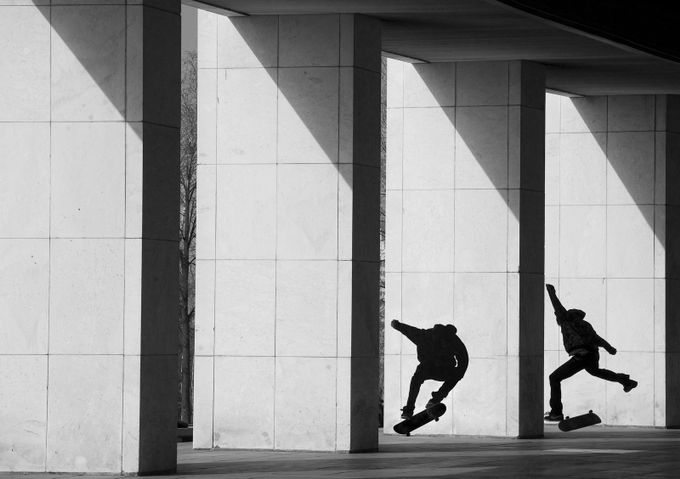 Skateboarders  by lifearound - People In The City Photo Contest