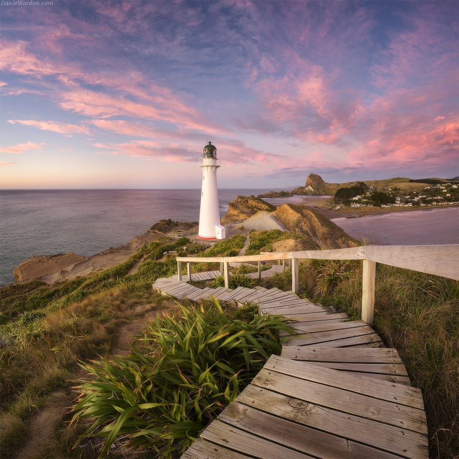 Castle Point lighthouse by DanielKordan - Promenades And Boardwalks Photo Contest