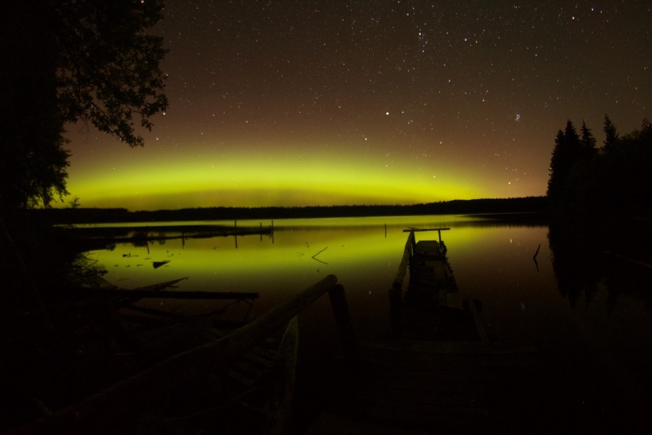 Took a while to believe we were seeing northern lights, up island this is rare