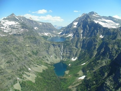 Glacier National Park from a Helicopter