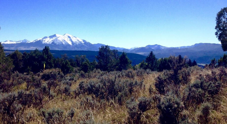 View of Mt Sopris just outside of Carbondale, CO