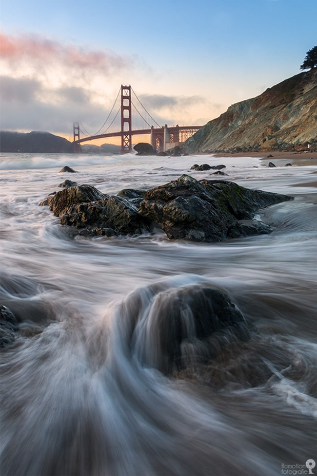 Golden Gate Waterlines  by flomotionfotografie - Around the World Photo Contest By Discovery