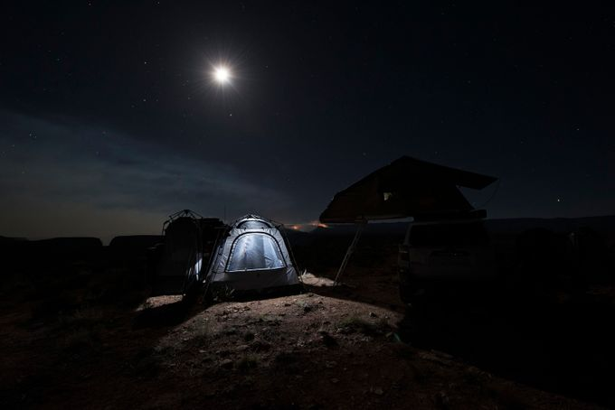 Camping in the Moonlight by Ayersphotography - Creative Travels Photo Contest