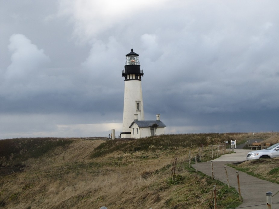 Beautiful lighthouse in Newport Oregon.