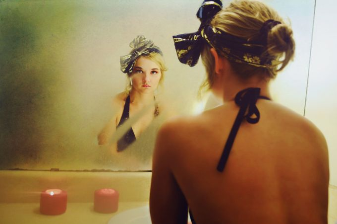 Behind the scenes by llyssfrye - The Face in the Mirror Photo Contest