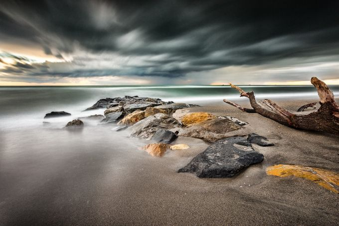 Light sea by massimilianoagati - The Moving Clouds Photo Contest