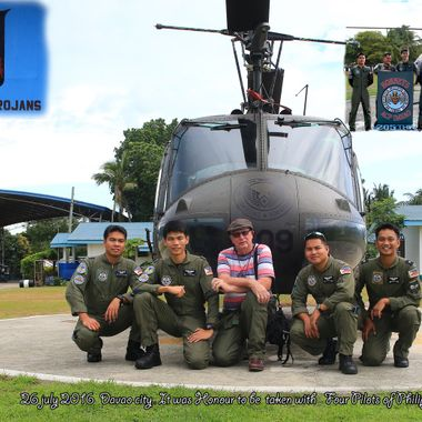 I'm Vietnam Veteran that served in nam 67-68... with 9sqn RAAF as crewmen/gunner now some 49yrs later i visited the Philippine Airforce base and had pleasure of spending time with these pilots of same model Huey that flew in during my time in Nam.. so just sharing  as i took it with timer on tripod.