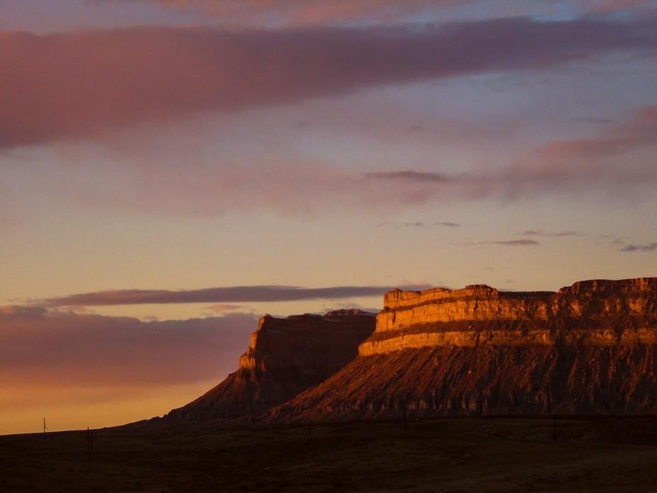 Sunset in Utah on H191
