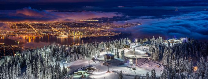 Vancouver City panorama from Grouse Mountain  by PierreLeclercPhotography - City In The Night Photo Contest