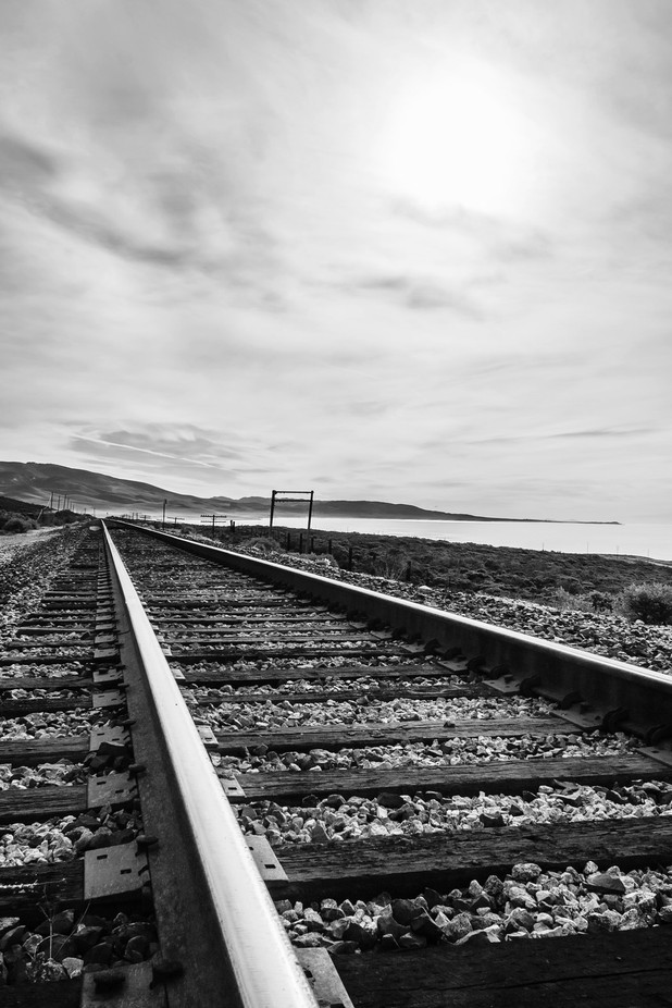 Train track#2 by vincesalavarria - Composing with Diagonals Photo Contest