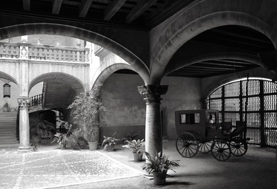 Old photo in BW, Can Vivot Monument Palma