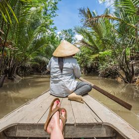 Drifting through the canals of the Mekong Delta. This was absolutely the most beautiful, tranquil boat ride I've ever experienced.