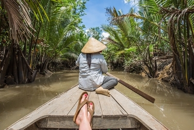 POV: Floating down the Mekong Delta