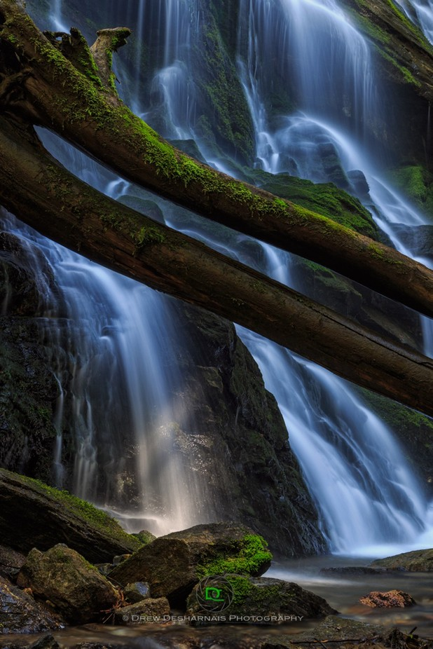 Cascade Falls Close 2016 by DrewDesharnaisPhotography - Beautiful Waterfalls Photo Contest