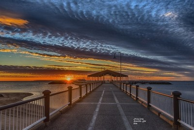 Sunrise on the Redcliffe Peninsula.