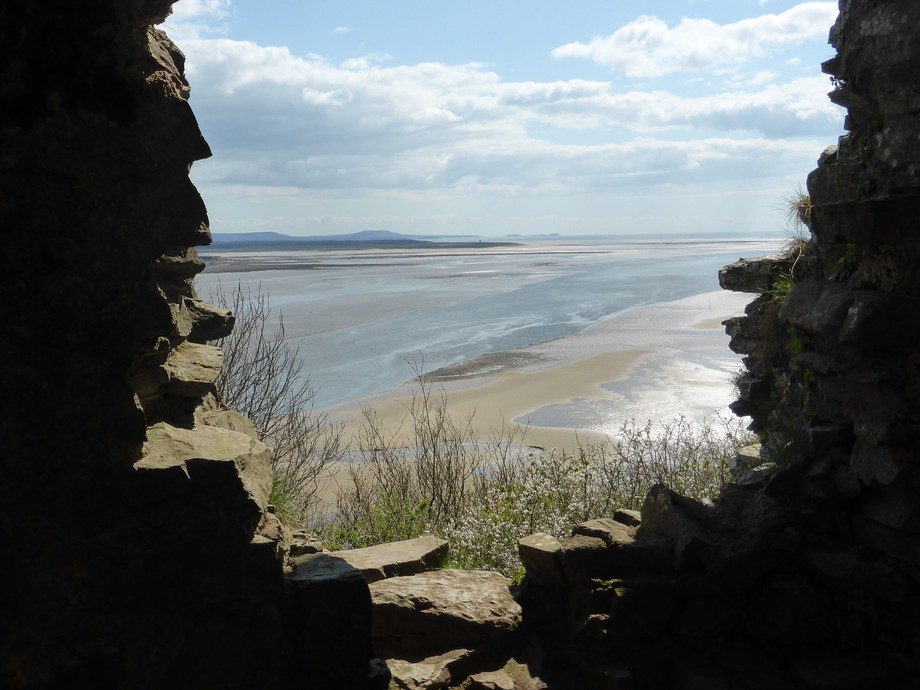 This image was taken from Llansteffan Castle of the Towy estuary
