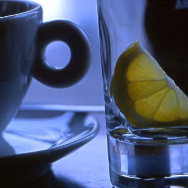 After ducking into a café in Malmo, Sweden, I captured this still life on the bar.