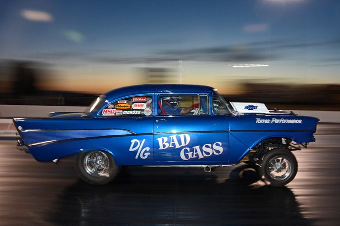 '57 Chevy at twilight by DaveKommel - Awesome Cars Photo Contest